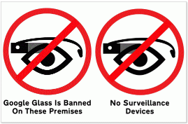 No Google glass Small