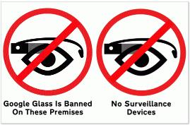 No Google glass Small