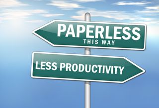 Paperless signpost