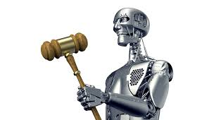 Robot and gavel