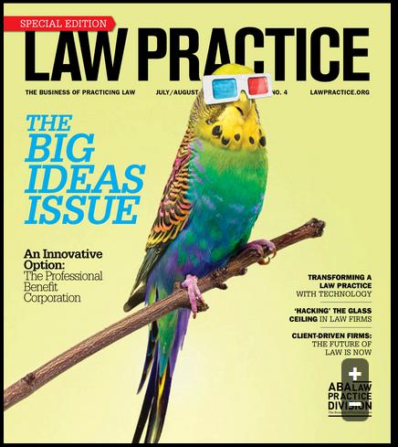 Law Practice Magazine JulyAug 2017