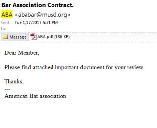 ABA scam
